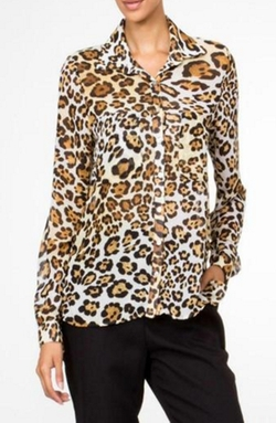 Honey Punch - Leopard Print Blouse