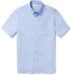 Alexander McQueen   - Slim-Fit Short-Sleeved Cotton-Blend Shirt