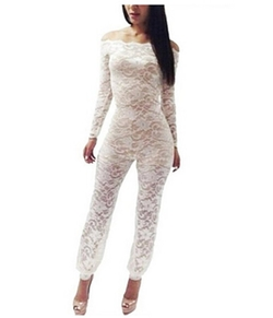PGXT - Sexy Lace Sheer Jumpsuit