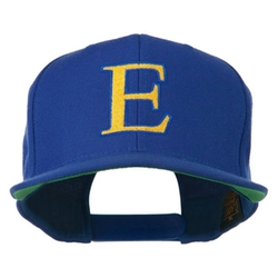 E4hats - Alphabet Embroidered Flat Bill Cap
