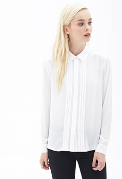Forever 21 - Pleated Crepe Shirt