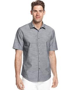Alfani  - Big and Tall Criss Chambray Shirt