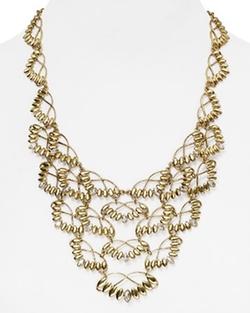 Carolee - Leaf Bib Necklace