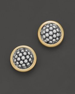 "Lagos  - Sterling Silver ""Caviar"" Button Earrings"