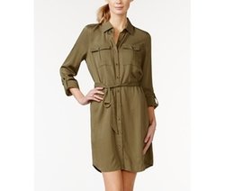 Jessica Simpson  - Emerson Roll-Sleeve Shirtdress
