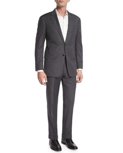 Armani Collezioni  - G-Line Windowpane Wool Two-Piece Suit