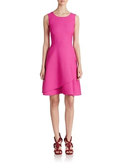Oscar De La Renta - Layered Fit-&-Flare Dress