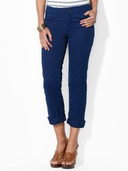Lauren Jeans Co. -  Rolled-Cuff Cotton Chino