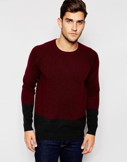 Asos  - Lambswool Rich Sweater In Color Block