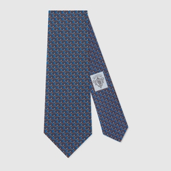 Gucci - Interlocking G Snake Pattern Tie