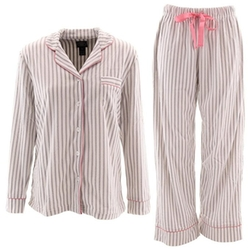 Laura Ashley  - Striped Fleece Pajamas