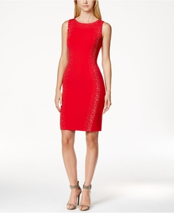 Calvin Klein - Sleeveless Embellished Sheath Dress