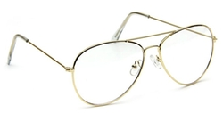 In Touch With Style - Retro Aviator Clear Lens Eyeglasses