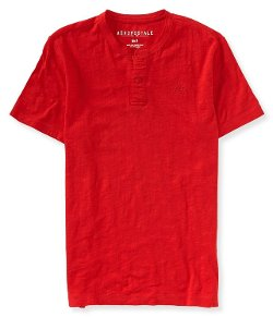 Aeropostale - Mens Solid Henley Shirt