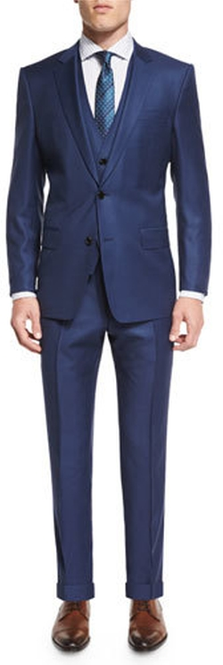 Boss Hugo Boss  - Hevans Three-Piece Wool Suit