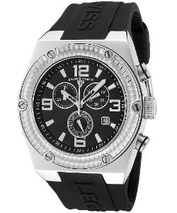 Legend - Throttle Chrono Black Silicone Watch