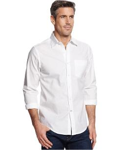 Club Room  - Slim Fit Textured Mini Pane Shirt