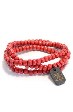 Tag Twenty Two - Wraparound Bracelet in Red