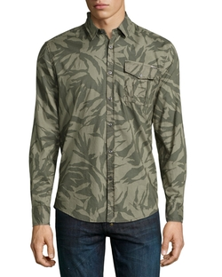 Antony Morato  - Camouflage-Print Long-Sleeve Sport Shirt