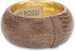 "Ted Rossi  - ""Urban Tribal"" Large Embossed Leather Bangle Bracelet"