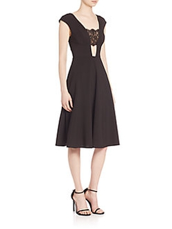 ABS  - Lace Inset Dress