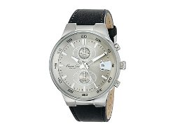 Kenneth Cole New York  - Black Leather Strap Chronograph Watch