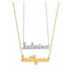 Jennifer Zeuner - Serafina Personalized Mini Nameplate Necklace