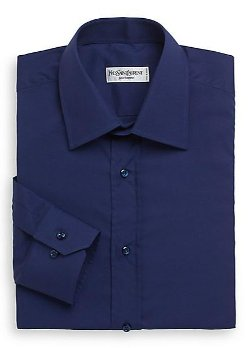 Yves Saint Laurent  - Woven Cotton Dress Shirt