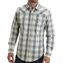 Stetson  - Vintage Dobby Plaid Shirt - Snap Front, Long Sleeve