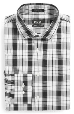 1901 - Extra Trim Fit Plaid Dress Shirt