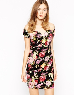 Rare  - Floral Bardot Dress