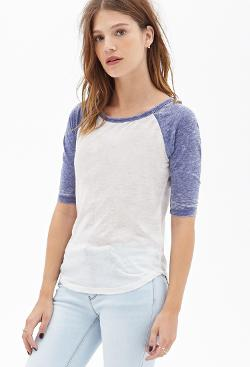 Forever 21 - Burnout Baseball Tee