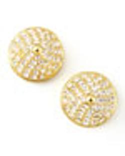 Eddie Borgo   - Pave Crystal Cone-Stud Earrings