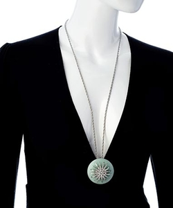 Andara - Round Deco Starburst Pendant Necklace