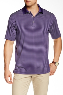Peter Millar - Stokes Stripe Stretch Jersey Knit Polo Shirt