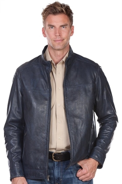 Overland Sheepskin Co. - Truman Lambskin Leather Bomber Jacket