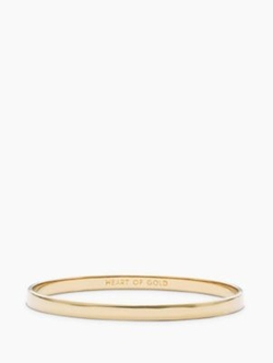 Kate Spade - Heart Of Gold Idiom Bangle Bracelet