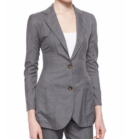 Giorgio Armani - Patch-Pocket Woven Jacket