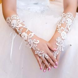 Exquisite  - Fingerless Sequins Rhinestone Bridal Glove