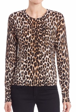 Equipment  - Shirley Leopard Printed Knit Top
