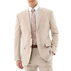 Stafford - Tan Linen-Wool Sport Coat