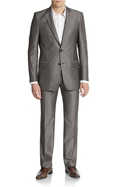 Versace Collection - Regular-Fit Wool & Silk Sharkskin Suit