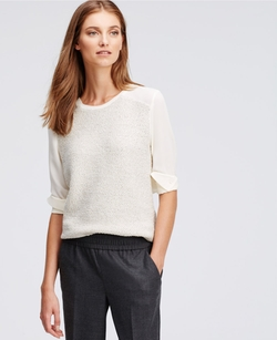 Ann Taylor - Textured Media Sweater