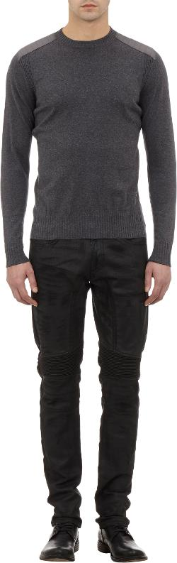 Belstaff - Tech Fabric-Patch Crewneck Sweater