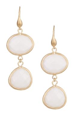 Rivka Friedman - 18k Gold Clad East/west Oval & Teardrop Mother Of Pearl Earrings
