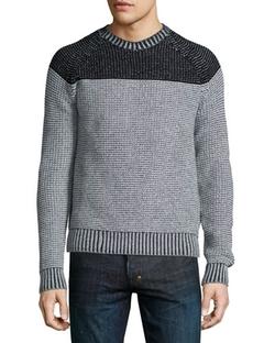 Neiman Marcus - Colorblock Reverse Raglan Sweater