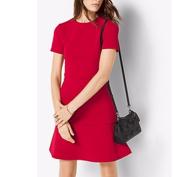 Michael Kors   - Ponte Flounce Dress