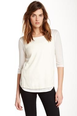 The Kooples  - 3/4 Length Sleeve Jersey Tee