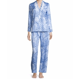 Oscar De La Renta - Printed Cotton Sateen Pajama Set