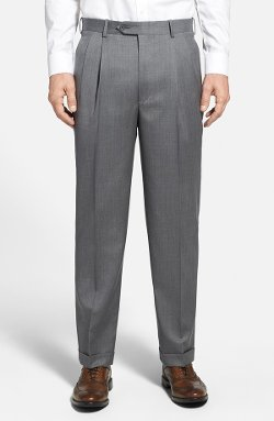 Di Milano Uomo  - Pleated Wool Trousers
